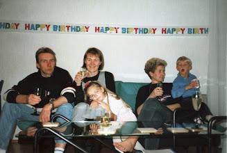 Photo: 1993 - Pirkon synttäreillä Eero, Pirkko. Satu, Asta ja Jussi