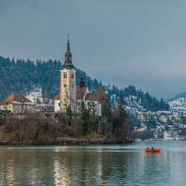 by Mario Horvat - Buildings & Architecture Public & Historical ( water, winter, church, outdoor, snow, bled, lake, island,  )