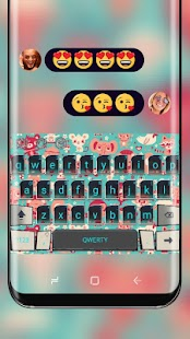 Cute Animal Art Wallpaper Keyboard Theme - náhled