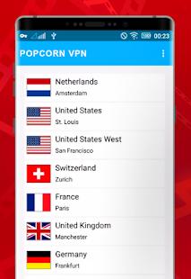 Popcorn -time VPN - náhled