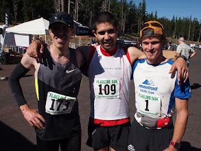Photo: The top 3 men - Ryan Bak, Mario Mendoza and Max King