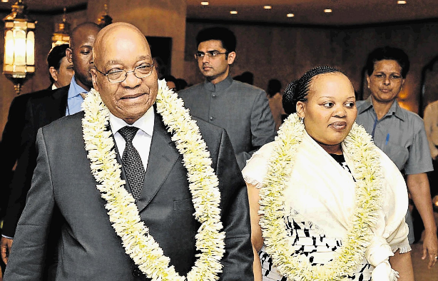 Former President Jacob Zuma and Nompumelelo Ntuli-Zuma on a visit to India in 2010. File photo.