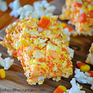 Candy Corn Popcorn Chewy Halloween Bars