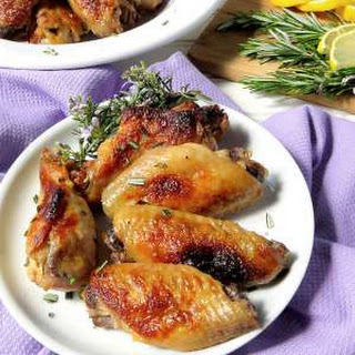 Lemon, Garlic & Rosemary Chicken Wings.