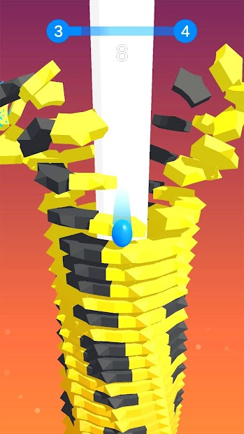 Stack Ball - Blast through platforms Android App Screenshot