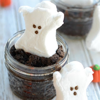 Mason Jar PEEP Brownies