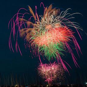 Geelong Fireworks by Madhujith Venkatakrishna - Abstract Fire & Fireworks