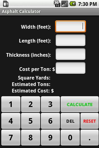 Asphalt driveway and parking lot calculator inch calculator.