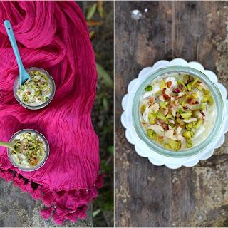 Saffron & Nut Shrikhand (Indian Yogurt Dessert).