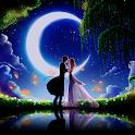 Romantic theme:  Moonlight Night Romance HD thames icon