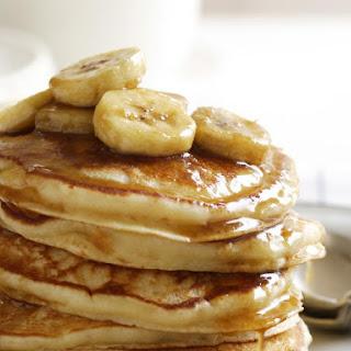 Banana Pancakes with Caramel Sauce.