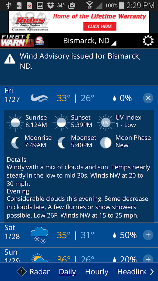 KFYR-TV First Warn Weather- screenshot