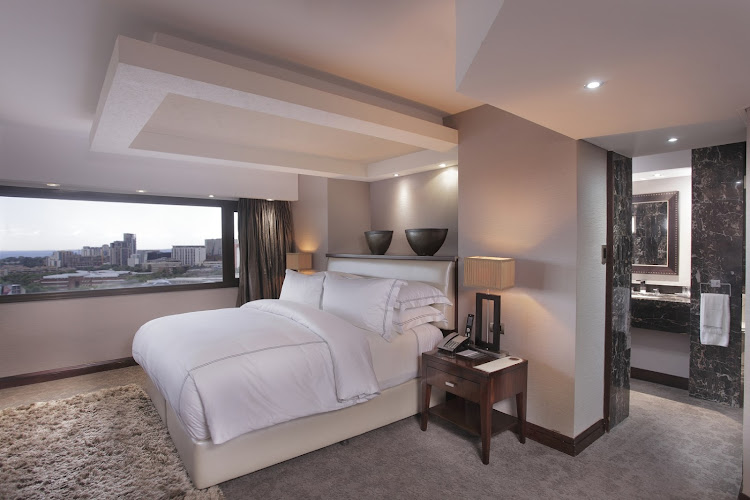 For the budget-conscious fabulous person, the Sandton Sun's presidential suites are quite the bargain.