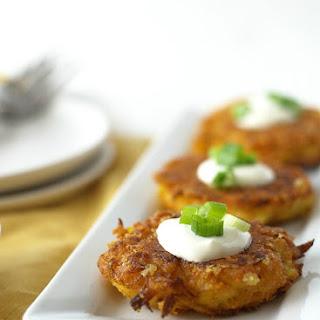Crispy Delicata Squash Cheddar Fritters
