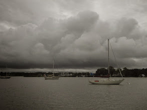 Photo: Stormy day at Rock Hall