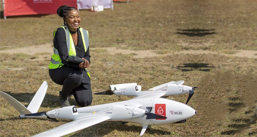 Drone pilot Lebohang Lebogo.