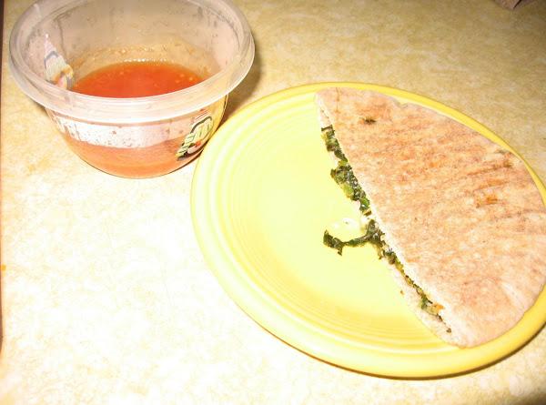 Spinach Melt Pitas Recipe