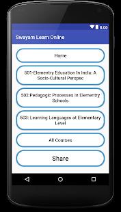 SWAYAM Online Learning Free - náhled