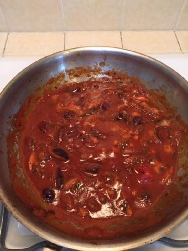 Sauté the mushrooms in the butter in a small sauté pan on medium heat....