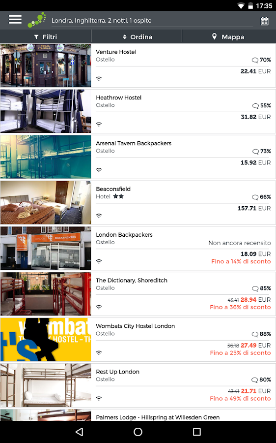 hostelbookers - Ostelli- screenshot