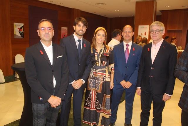 Representantes de VeraImport, Cajamar, Viajes El Corte Inglés y Torrecárdenas durante la gala.