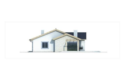 Agat wersja A dach 22 stopnie - Elewacja prawa