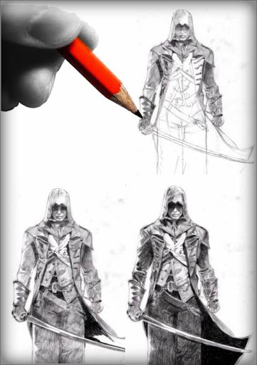 Sketch Ninja Assassin Creed