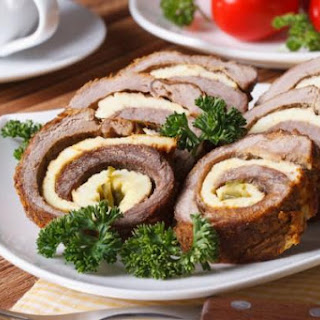 Easter Roll Of Two Types Of Meat