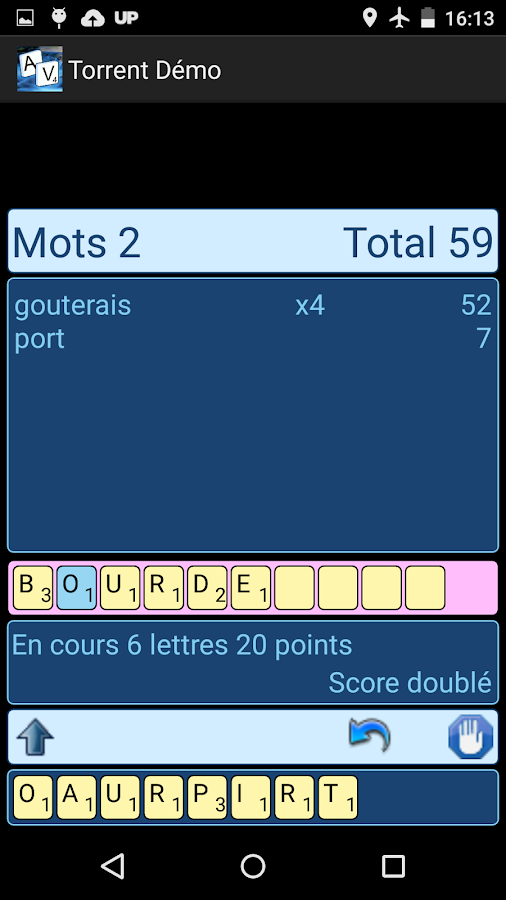 Torrent de mots- screenshot