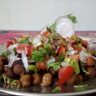 Chana chaat | A healthy breakfast.