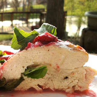 Parmesan-Basil Stuffed Chicken Breasts with Strawberries Recipe
