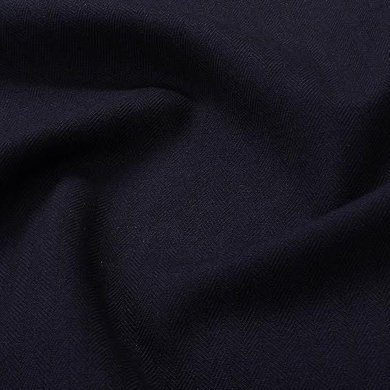 Fiskben Ull/Bomull - mörkblå