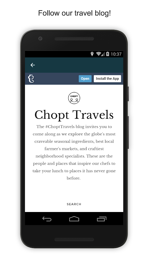 CHOPT- screenshot