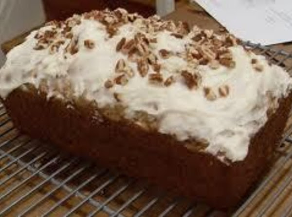 This bread may be iced on top with cream cheese frosting and sprinkled with...