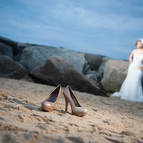 Sandy Shoes by Algernon Parker - Wedding Bride ( bridal, gown, beach, schanelle )
