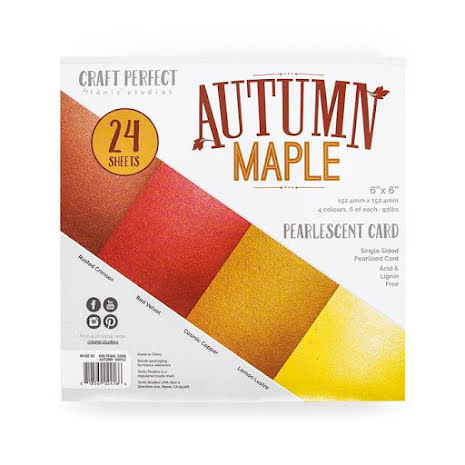 Tonic Studios Craft Perfect 6x6 Card Packs - Autumn Maple 9416E