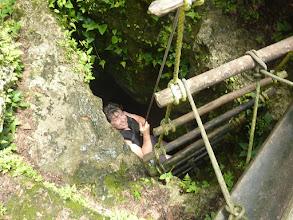 Photo: Abseilen in die Cenote von Punta Laguna