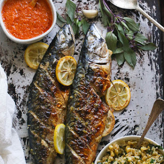 Whole Grilled Mackerel.