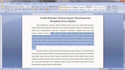 Contoh Penulisan Essay Yang Baik Dan Benar