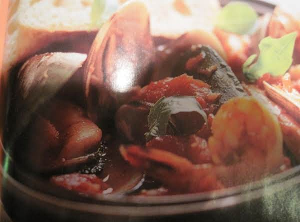 Mussels, Clams And Shrimp In Spicy Tomato Sauce By Rose