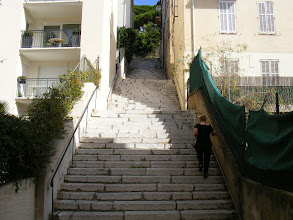 Photo: And up we go to Le Suquet, by the Tower Staircase.