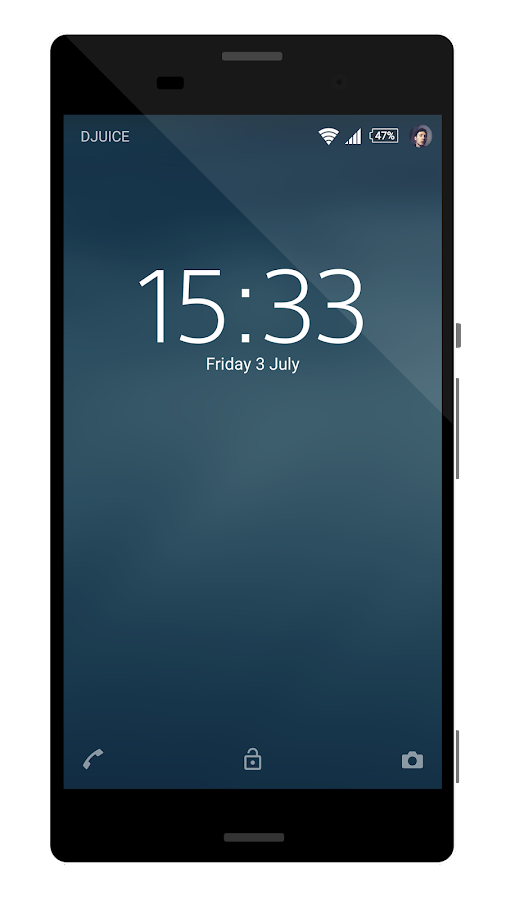Theme Inverse Blue Water- screenshot