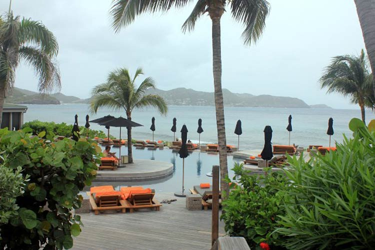Hotel Christopher at Point Milou on St. Barts offers day passes for non-residents for 80 euros.