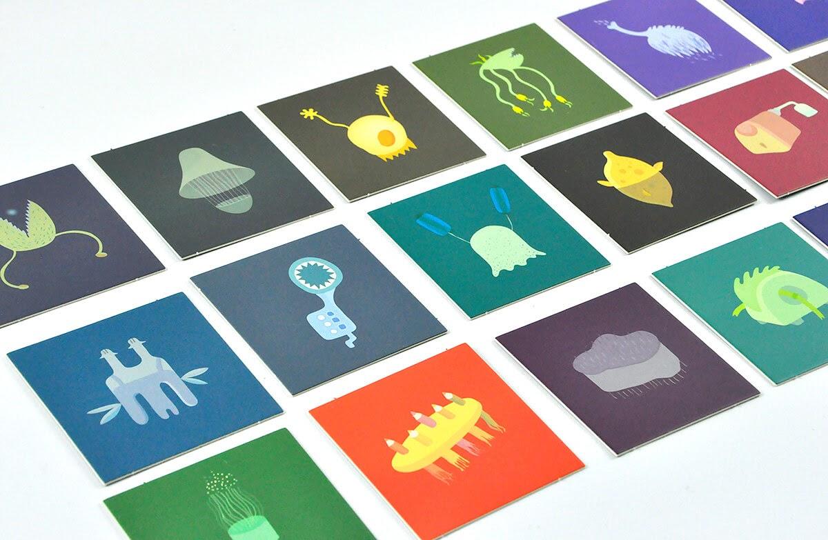 Planeta Nomino - karty z ilustracjami