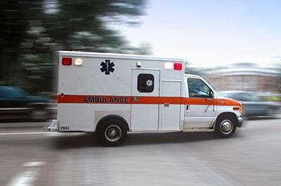 Image of moving ambulance