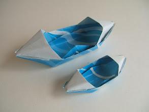 Photo: Les deux canöés