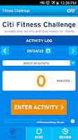Screenshot of Citi Fitness Challenge