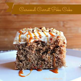 Caramel Carrot Poke Cake