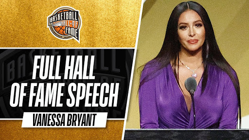 Vanessa Bryant Delivers Powerful Hall Of Fame Speech On Behalf Of Kobe