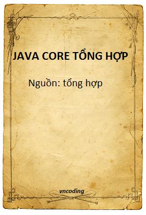 Ebook Java core tổng hợp